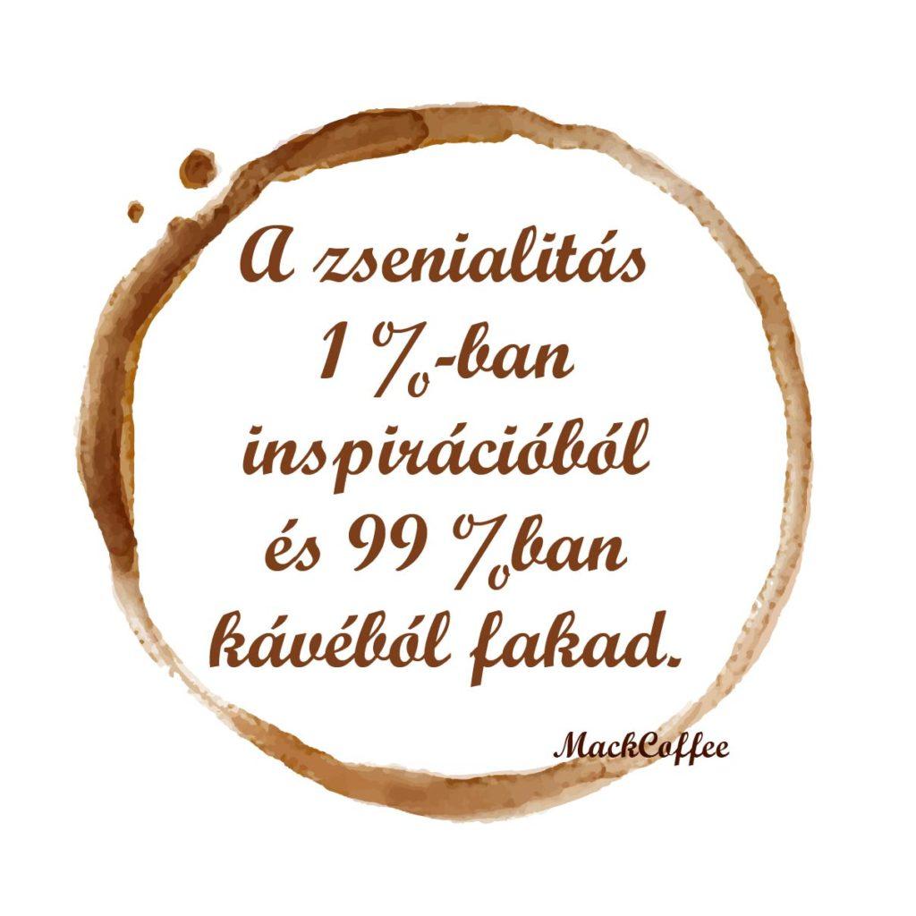 A zsenialitás 1%-ban inspirációból és 99%-ban kávéból fakad